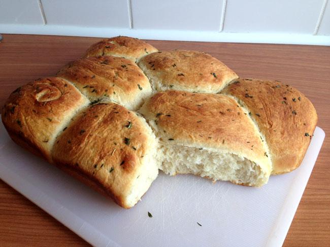 Thyme & honey butter rolls