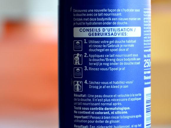 In shower body milk