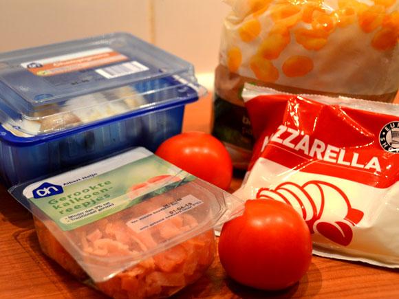 Pasta with mushrooms and mozzarella