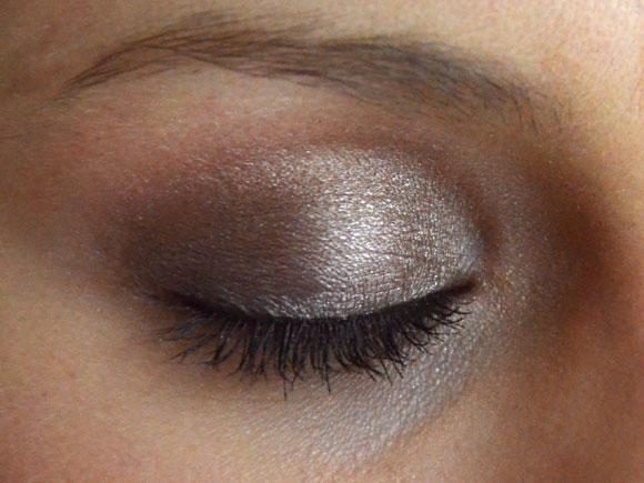 Shimmery grey look
