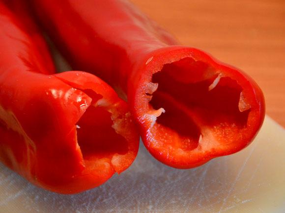 Stuffed cubanelle peppers
