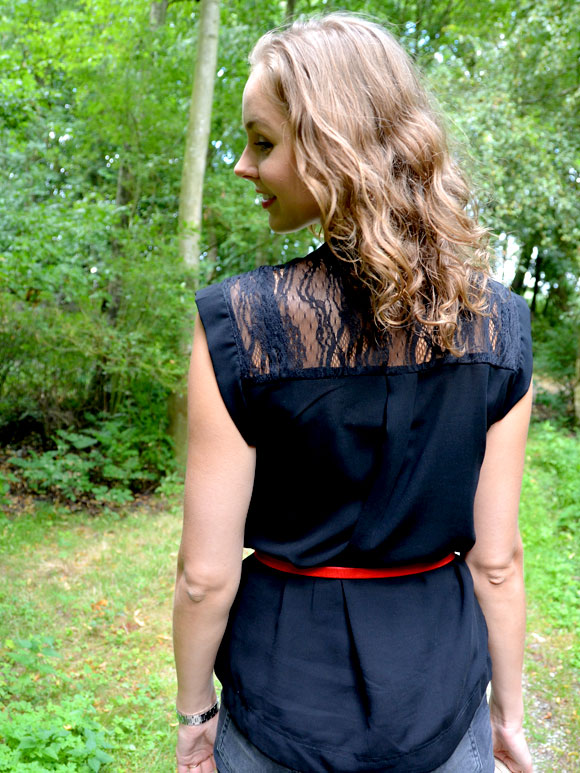 Outfit: touch of red