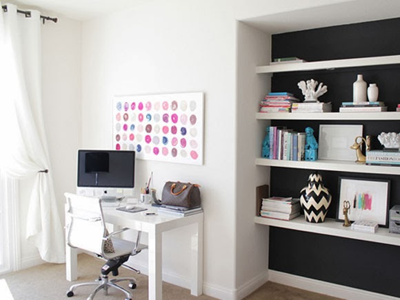 Een wit kantoor my simply special for Tumblr desk ideas