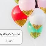 My Simply Special bestaat 1 jaar!
