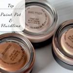 Red je uitgedroogde MAC Paint Pots & Fluidlines