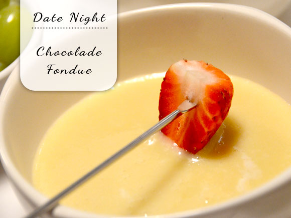 Date night: chocolade fondue