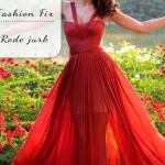 Fashion Fix: lange rode jurk