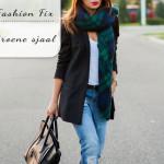 Fashion Fix: groene sjaal