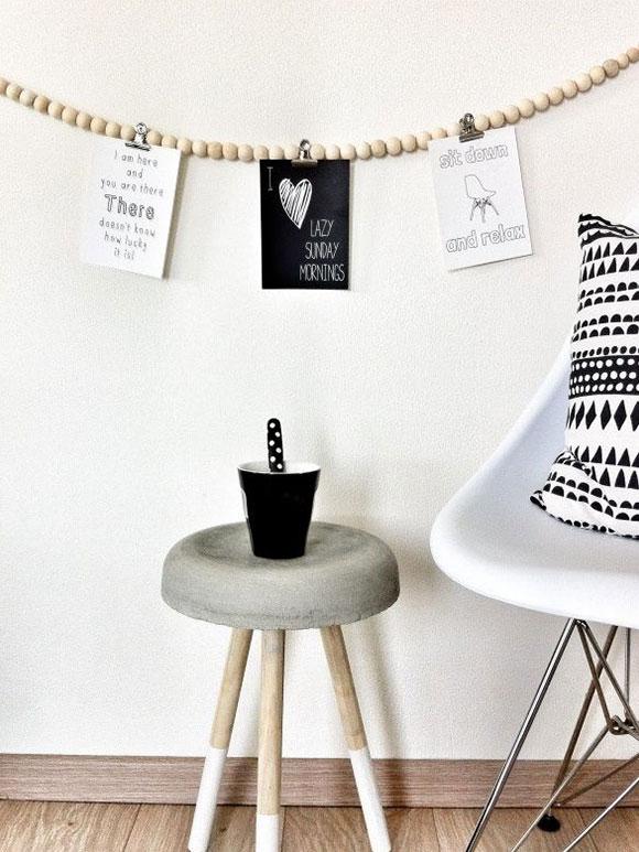 Fabulous creatief met een houten woonketting with for Mini kerstboom action