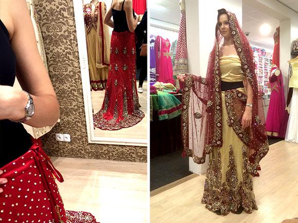 Hindoestaanse trouwjurk shoppen