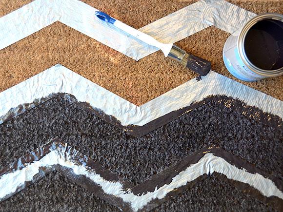DIY: Chevron deurmat
