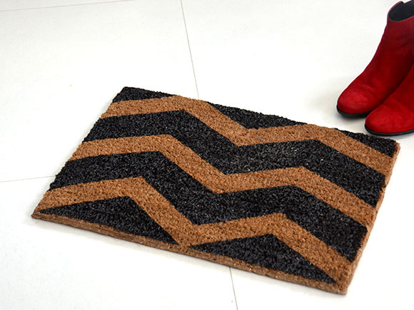 DIY: Chevron deurmat