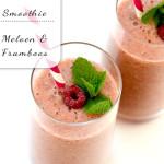 Smoothie met meloen & framboos