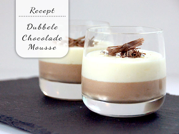 Makkelijke dubbele chocolademousse