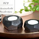 DIY: Geometrische waxinelichthoudertjes