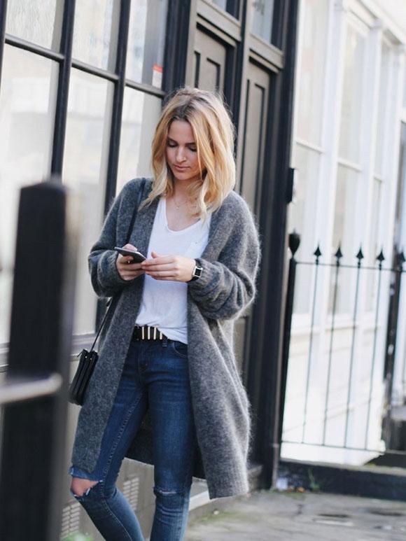 Fashion Fix: Lang grijs vest