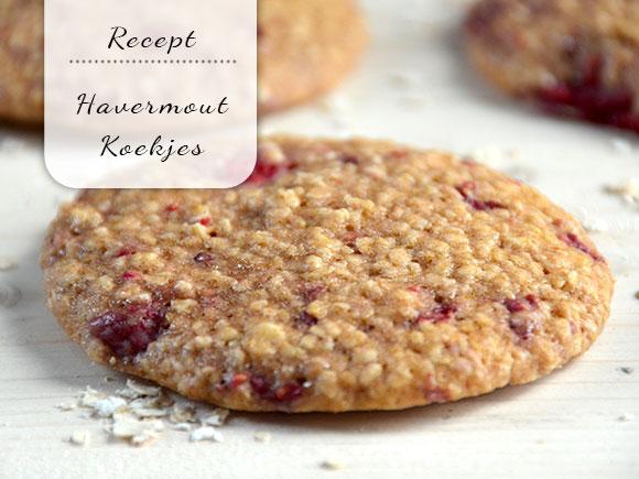 Havermout koekjes met frambozen