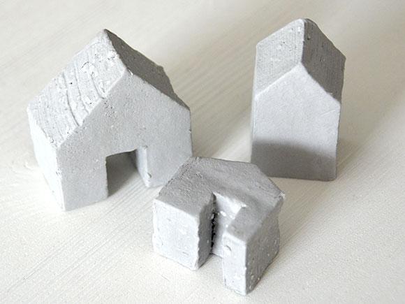 DIY: Huisjes met betonlook