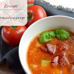 Tomatensoep met courgette en chorizo