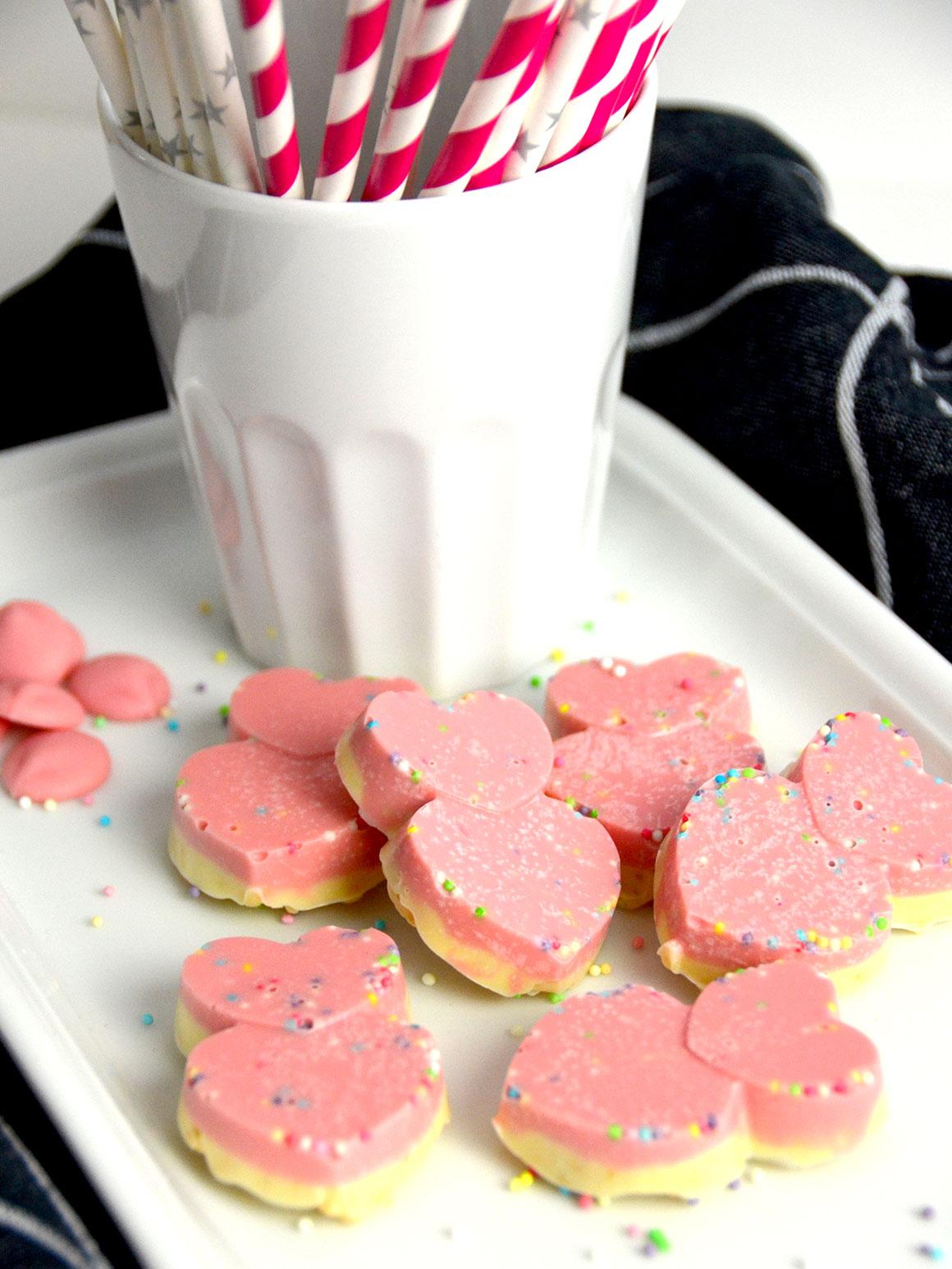 Schattige chocolaatjes voor Valentijnsdag