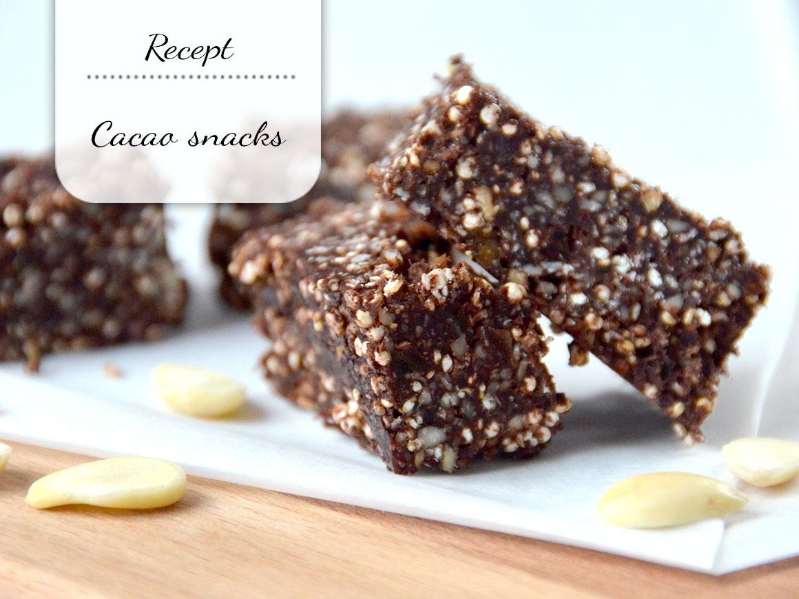 Suikervrije cacao snacks