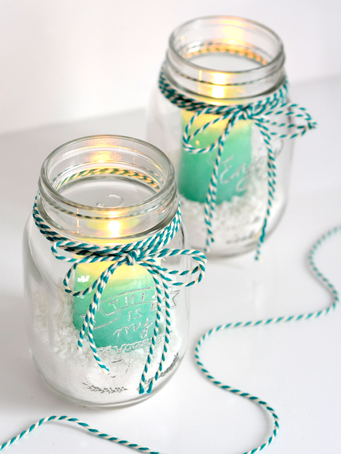 DIY: Mason jar kaarsen