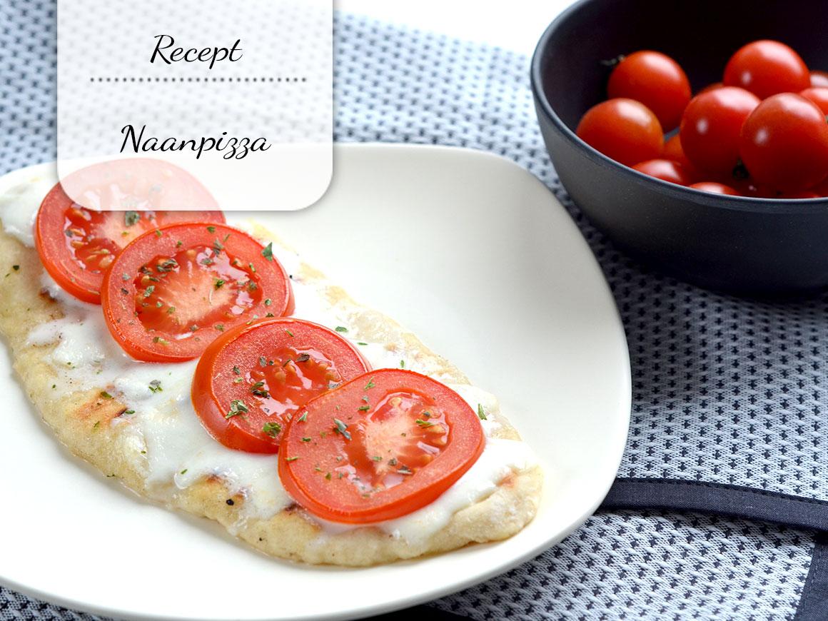 Simpele naanpizza