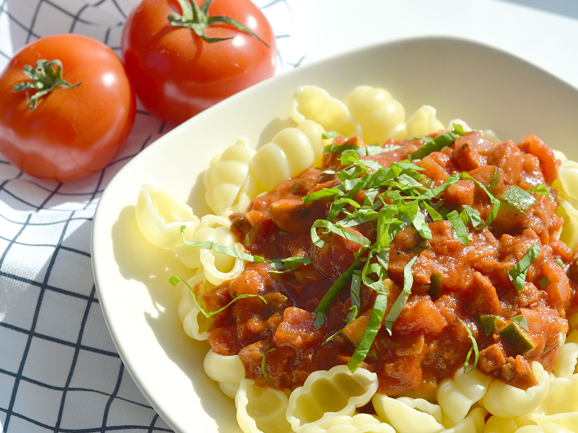Mijn favoriete pastasaus met chorizo