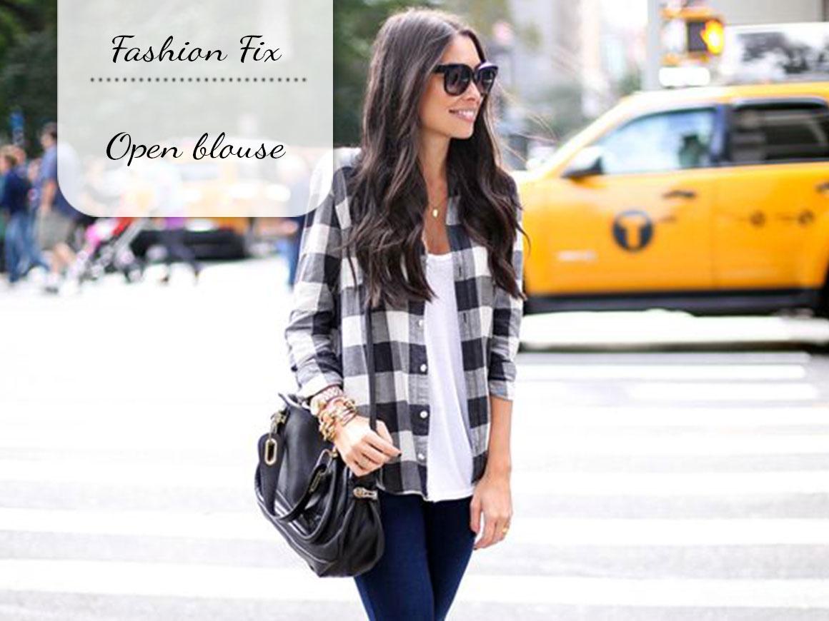 Fashion Fix: Open blouse
