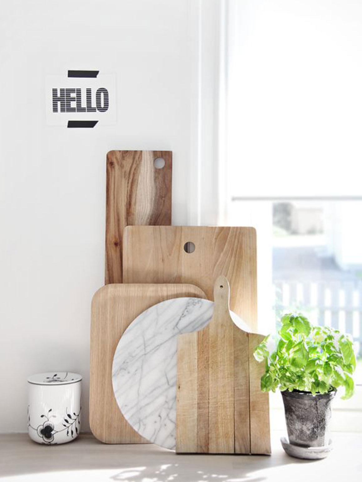 Gebruik je snijplanken als decoratie