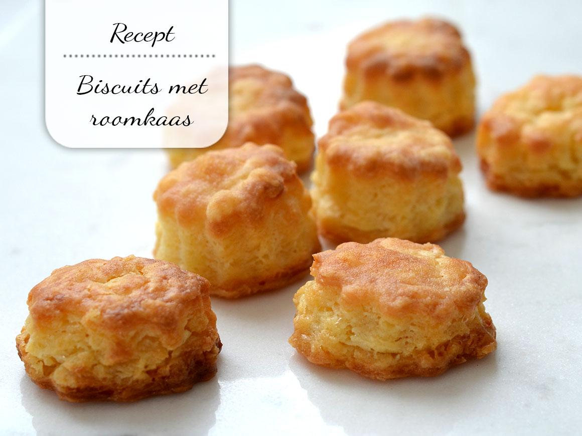 Makkelijke biscuits met roomkaas