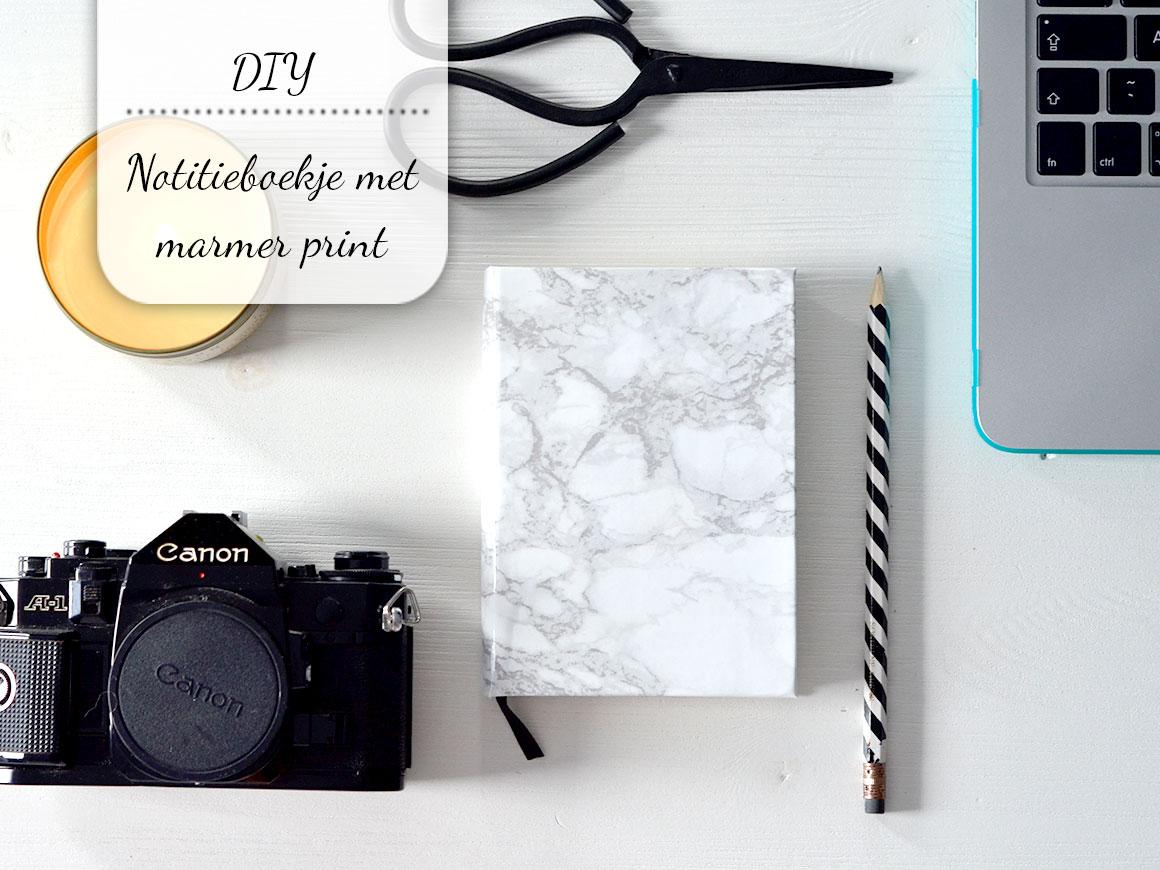 DIY: Notitieboekje met marmer print