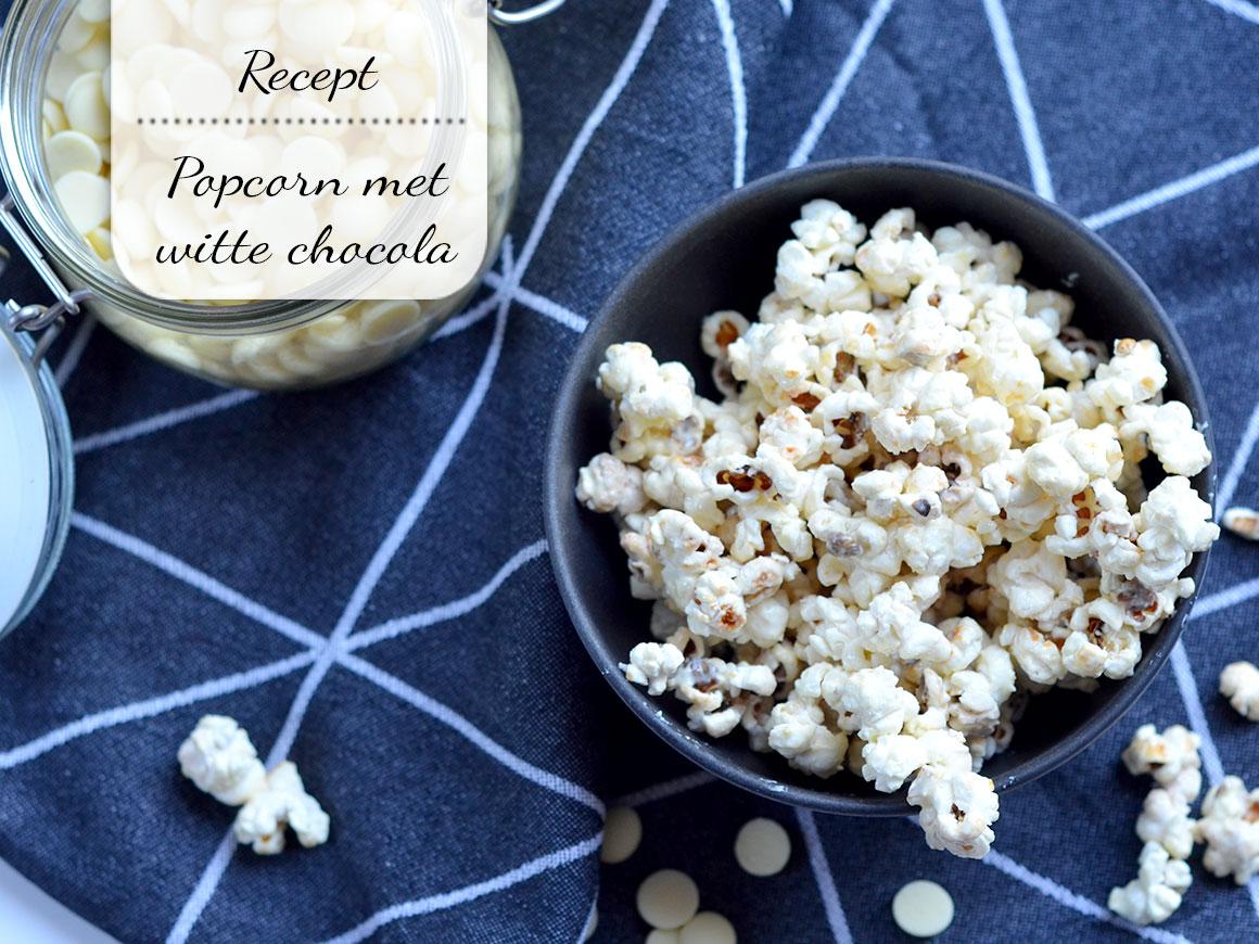 Popcorn met witte chocola