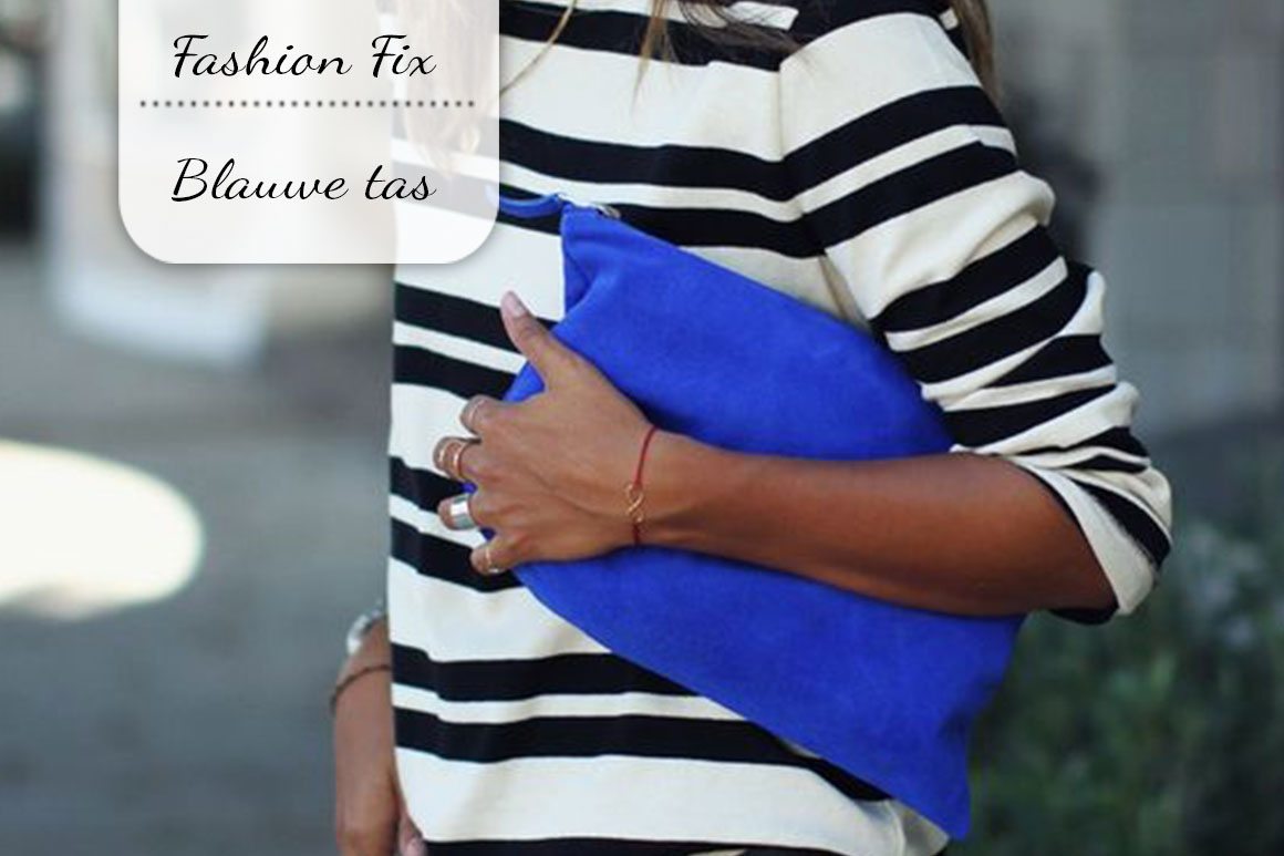 Fashion Fix: Blauwe tas