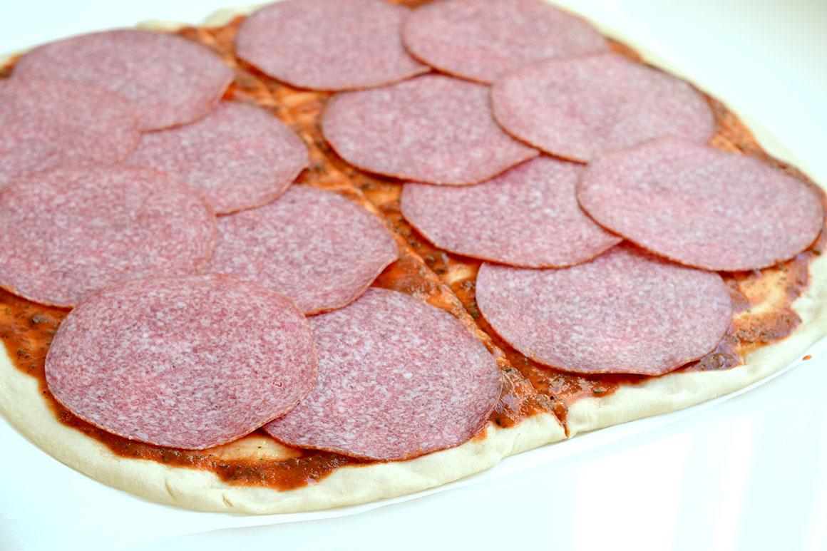 Pizzahapjes voor bij de borrel