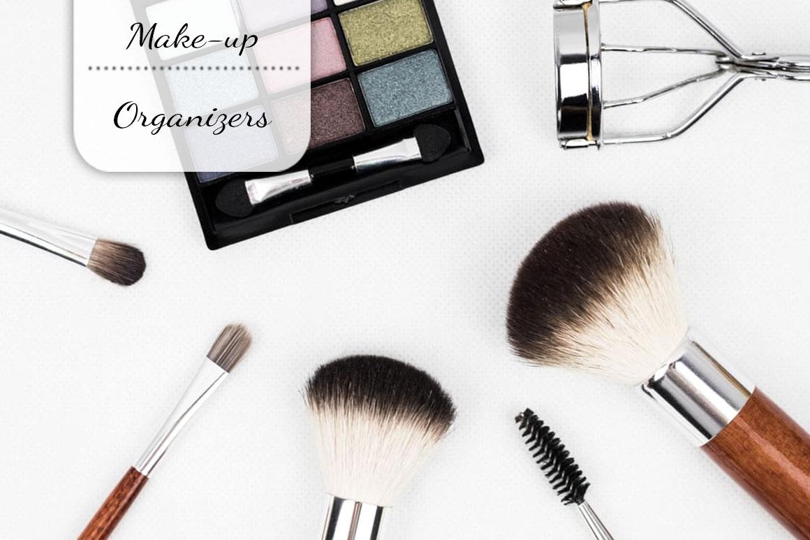 8x Handige make-up organizers