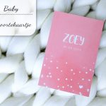 Baby update #15: Het geboortekaartje van Zoey