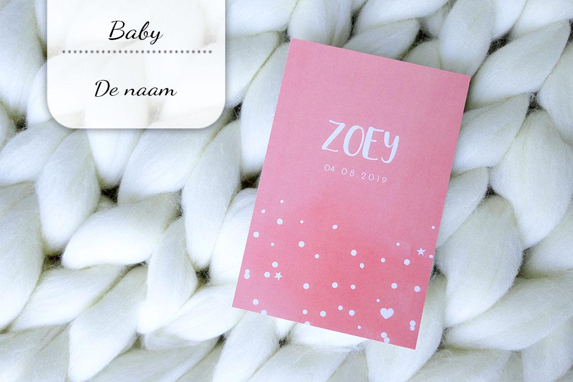 Baby update #19: Zoey's naam