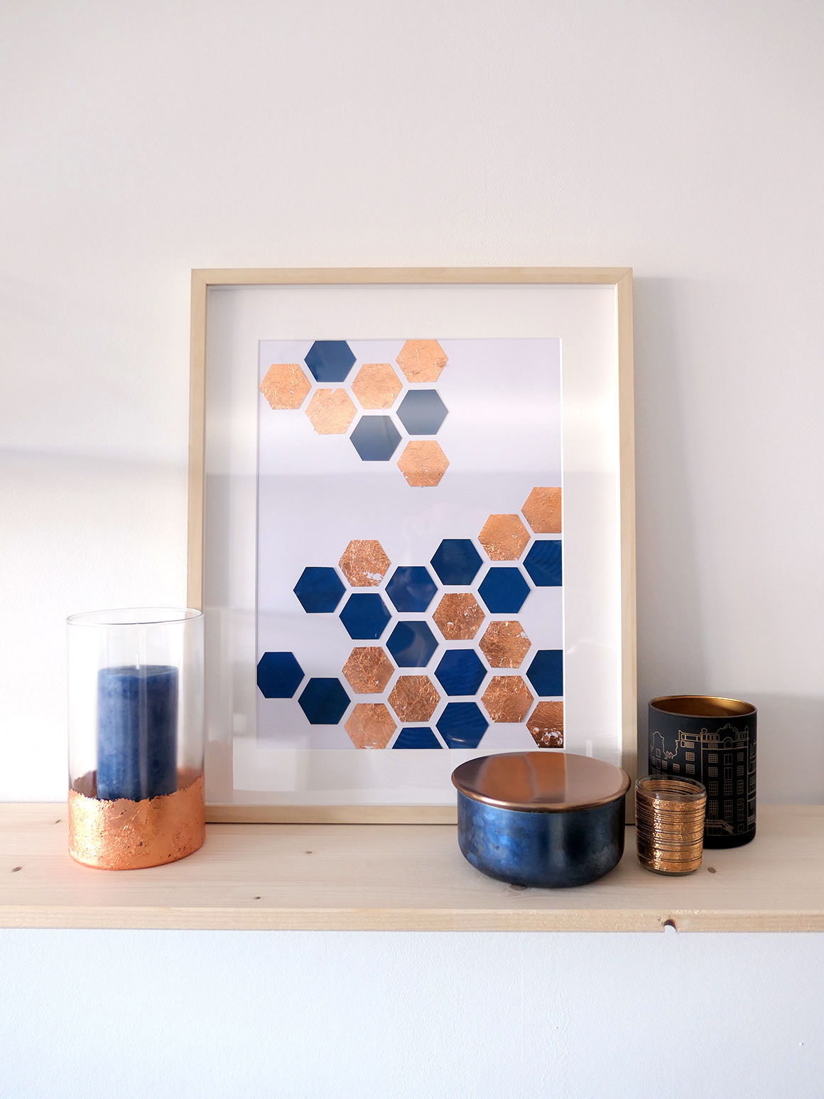 DIY: Hexagon art
