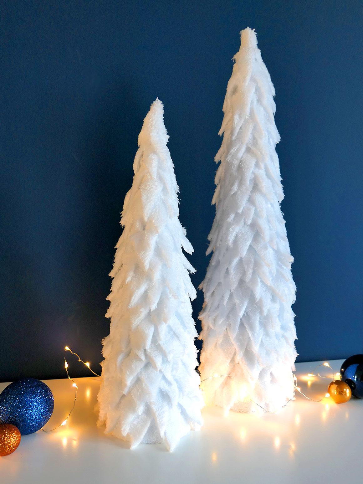 DIY: Kerstboompjes van stof