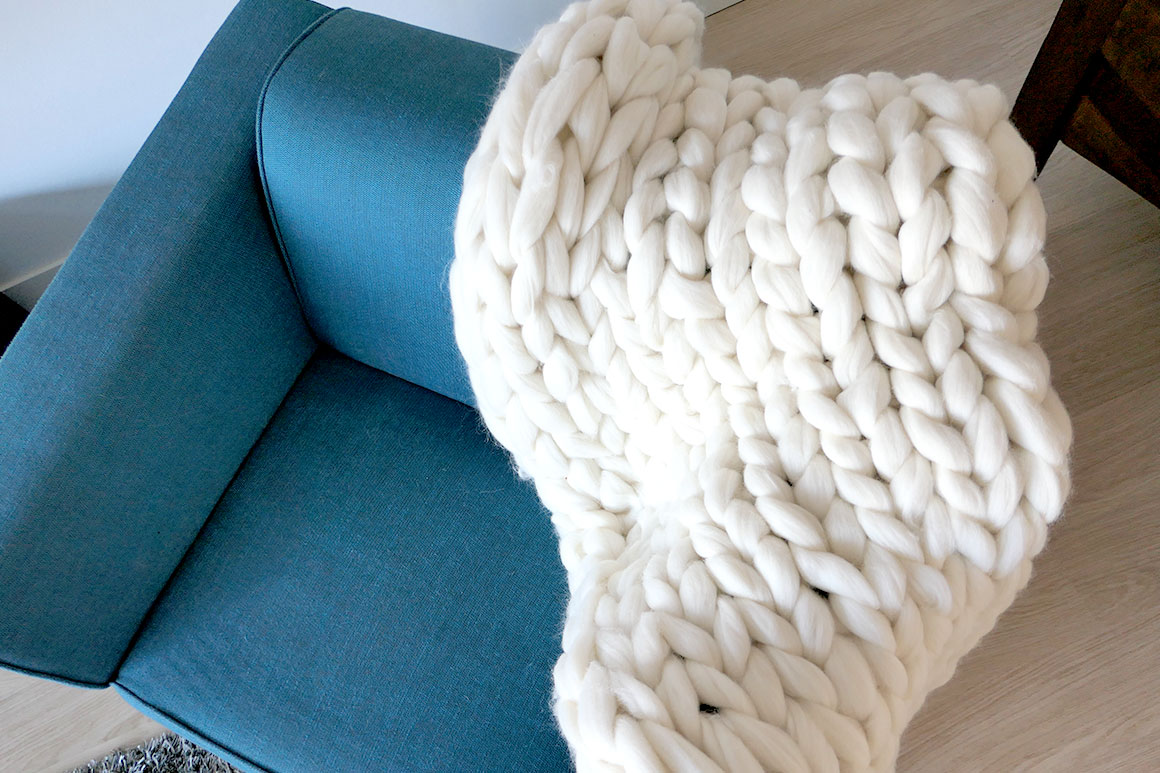 DIY: XXL deken van lontwol