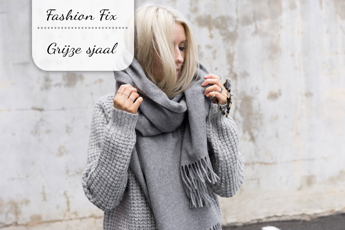 Fashion Fix: Grijze sjaal