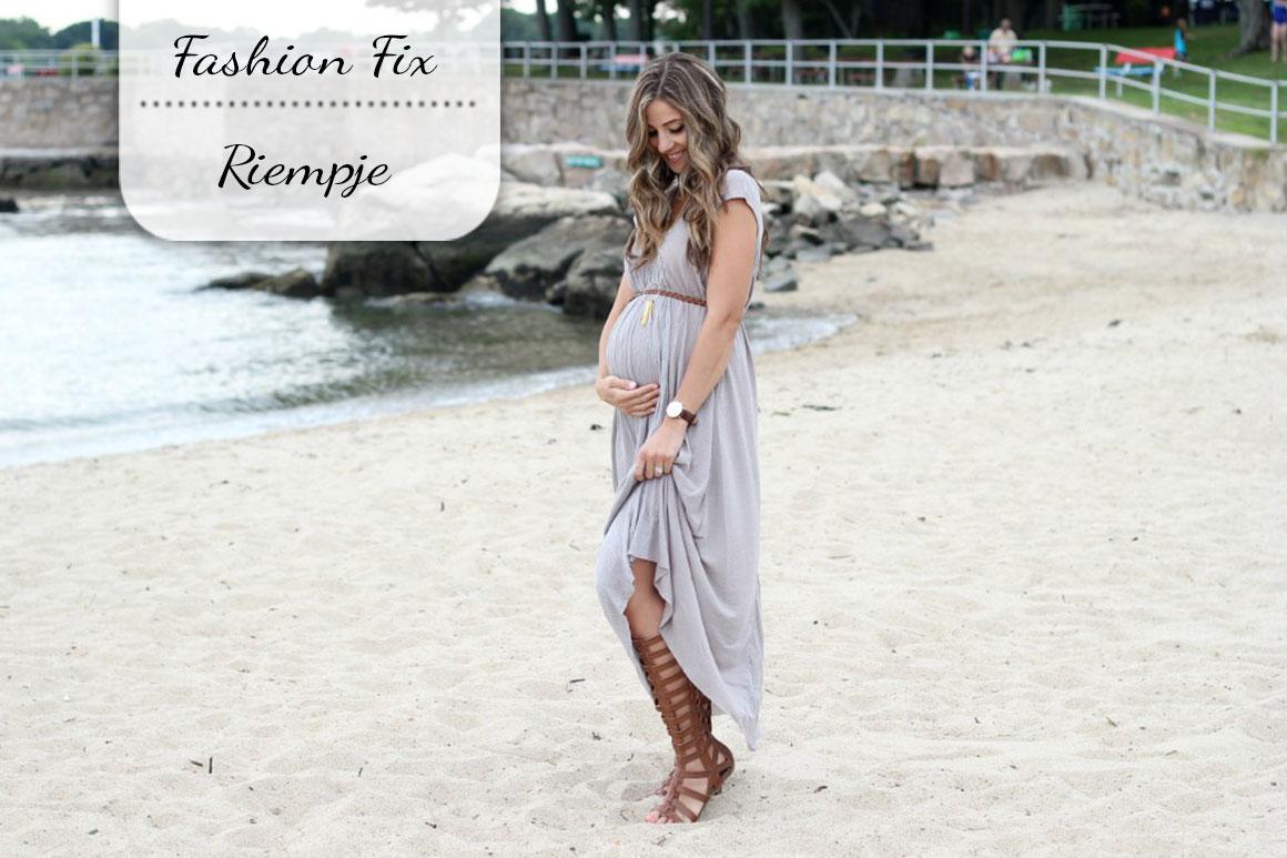 Fashion Fix: Riempje als je zwanger bent