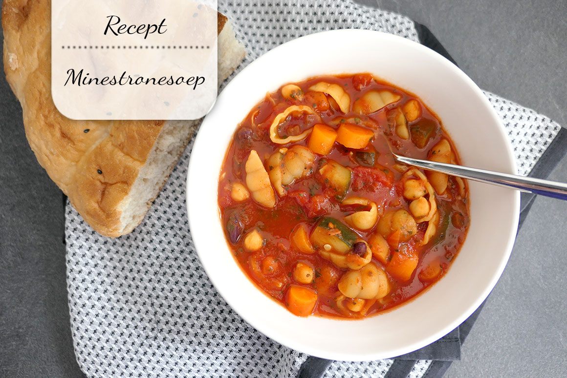 Goedgevulde minestronesoep (vegan)