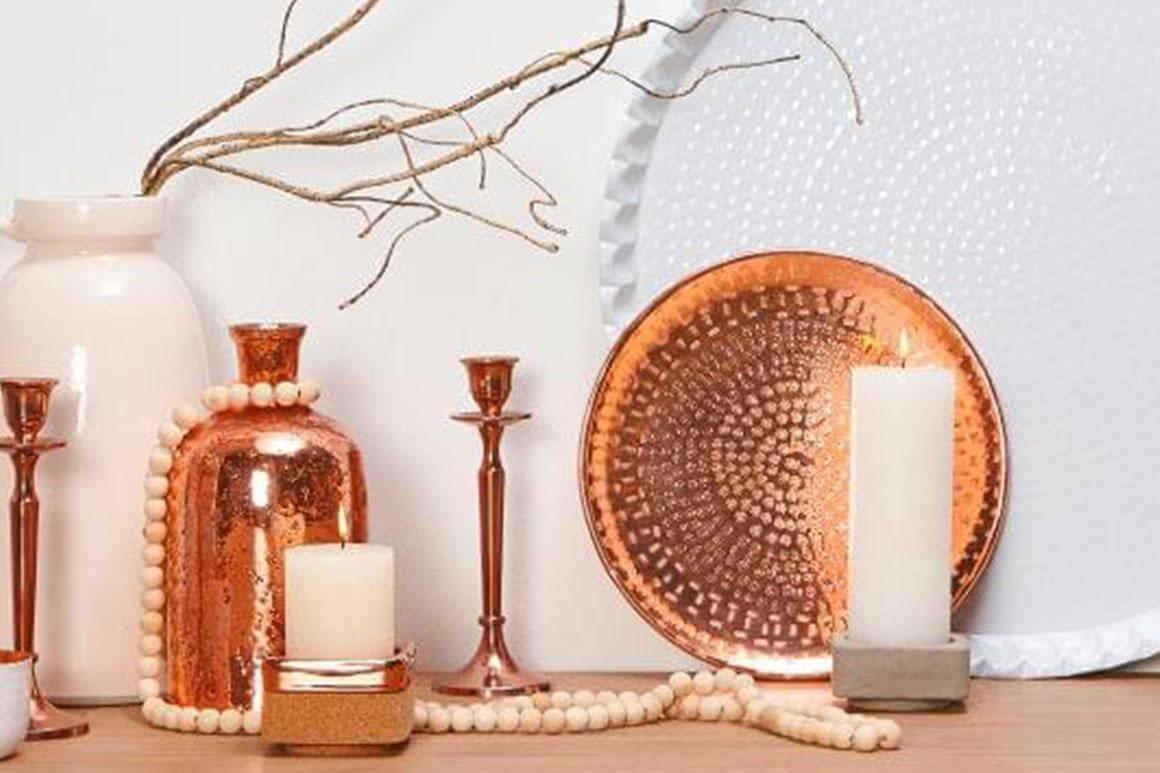 Koperen dienblad als decoratie my simply special for Decoratie spullen