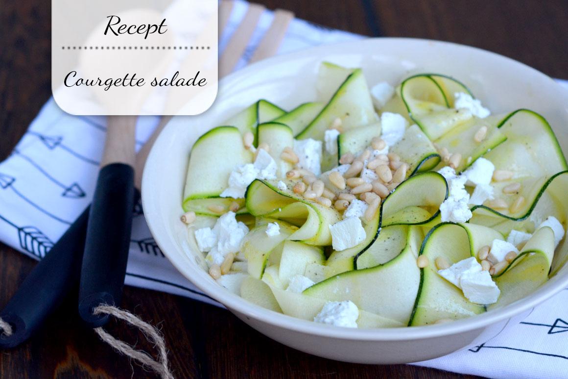Lekker bijgerecht: Courgette salade