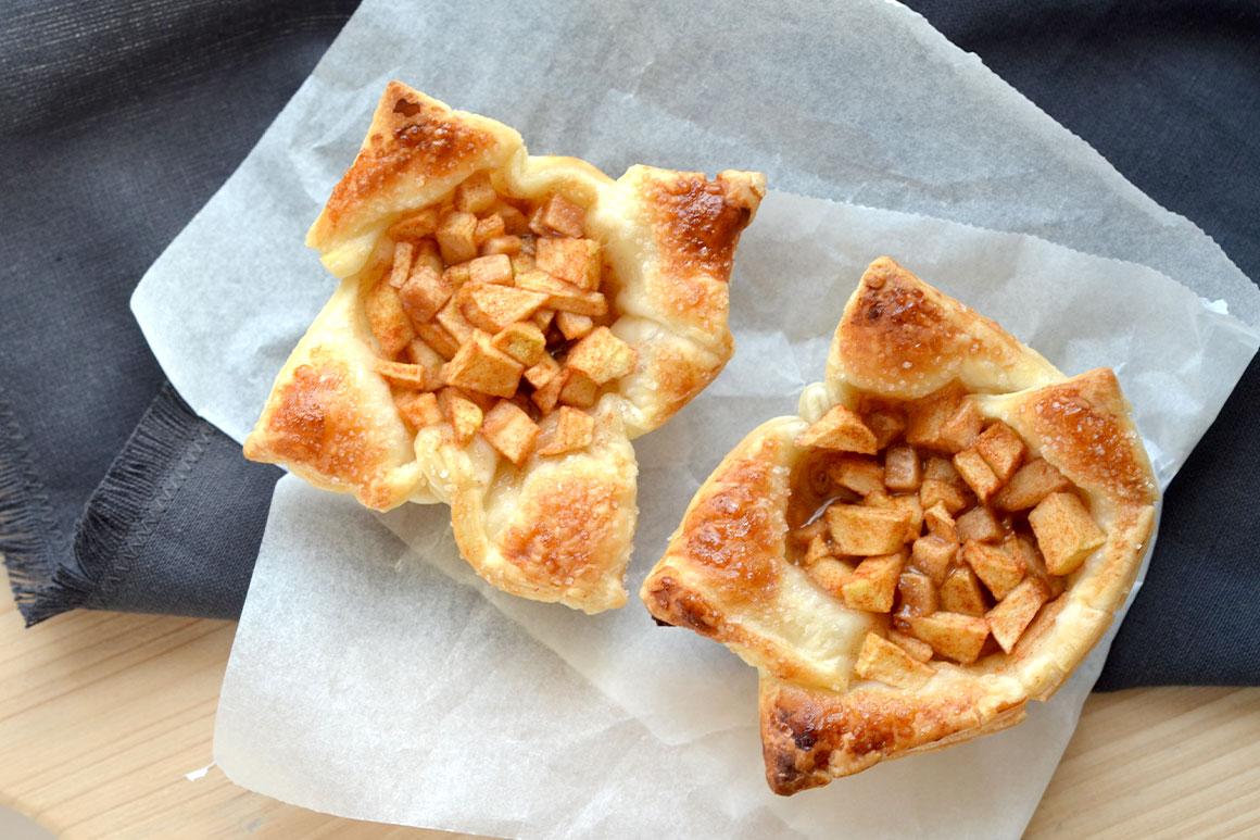 Makkelijke appeltaartjes met bladerdeeg