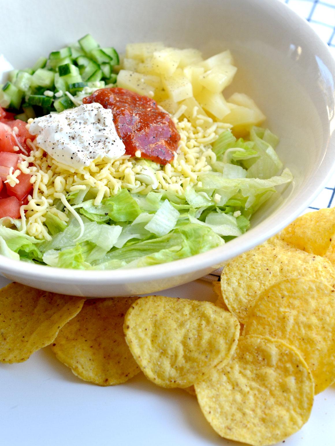 Makkelijke nacho salade
