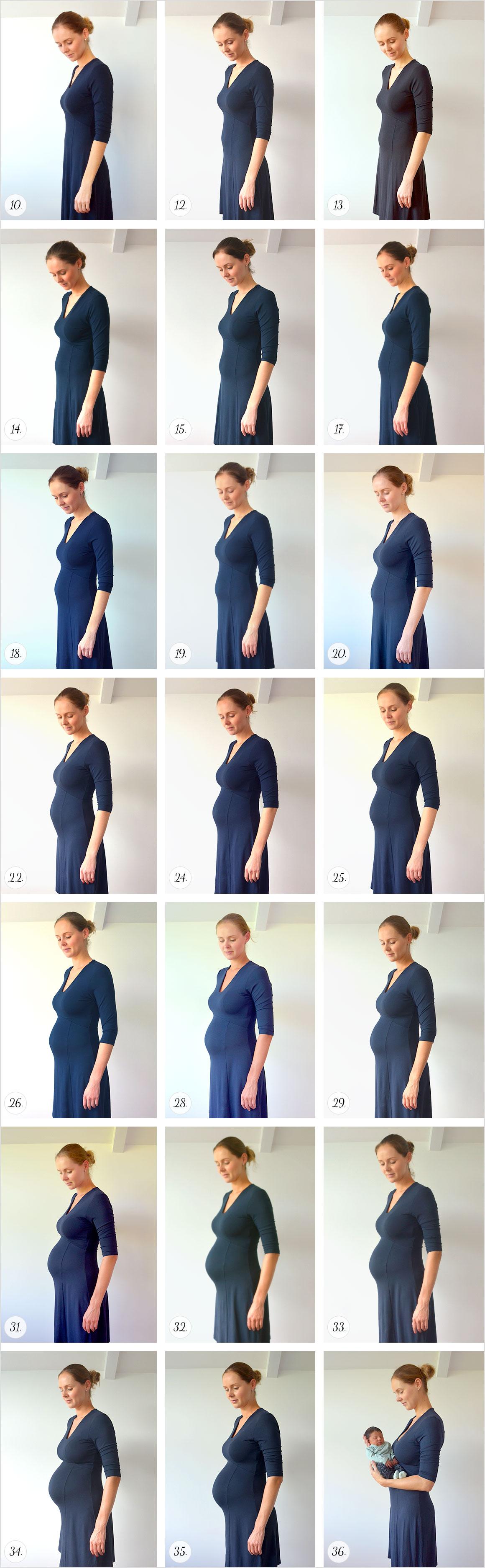 Mijn zwangerschap in buikfoto's