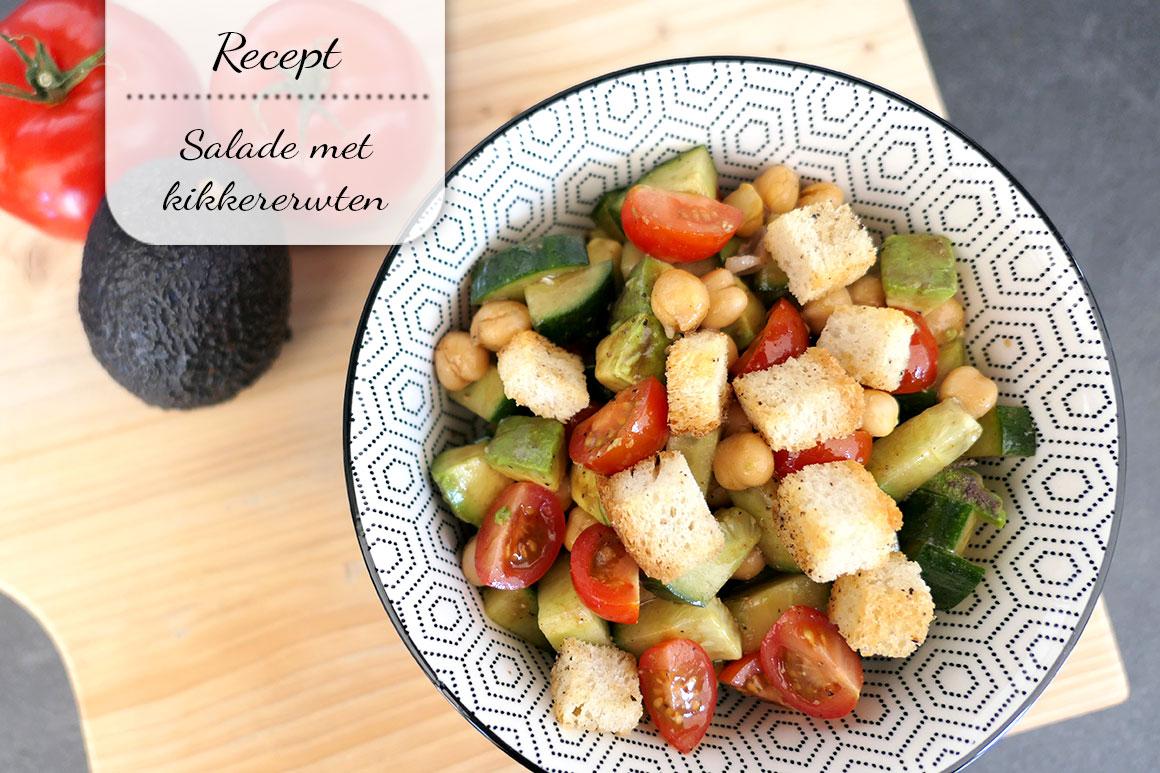 Salade met kikkererwten & avocado (vegan)